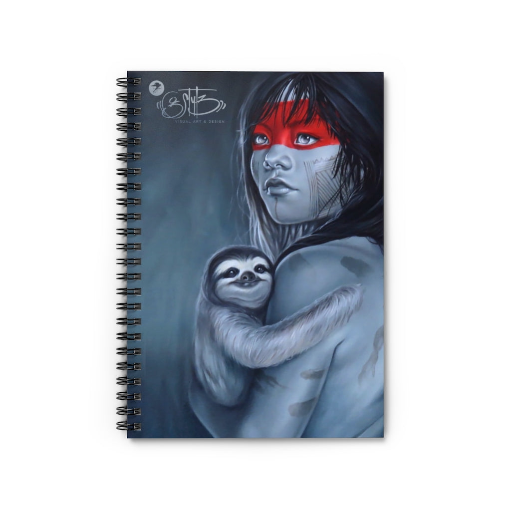 Art print collectable notebook 'Amazon Hugs'