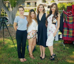 Gramercy Couture's first online fashion shoot. From L-R: MUA-Janett Juwien, GC CEO-Hanna J., GRAMERCY GIRLS-Perla & Andrea