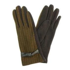 Gloves with Wrist Weave in Brown