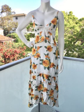 Boho Sunflower Maxi Dress