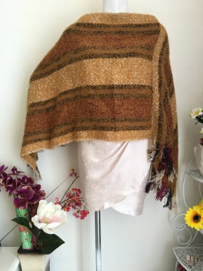 Poncho in Camel Brown