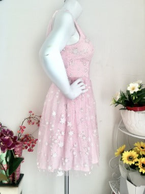 Ballerina Star Glitter Dress in Pink