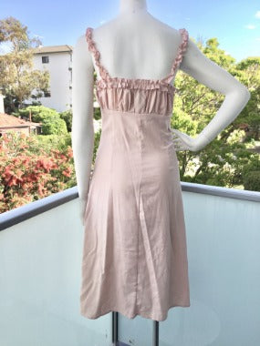 Button Down Maxi Dress in Pink