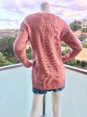 Distress Jumper in Pink