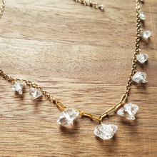 Load image into Gallery viewer, Herkimer Diamond & Gold Chain Choker