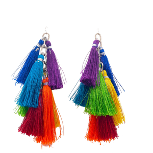 Big Rainbow Tassel Spiral