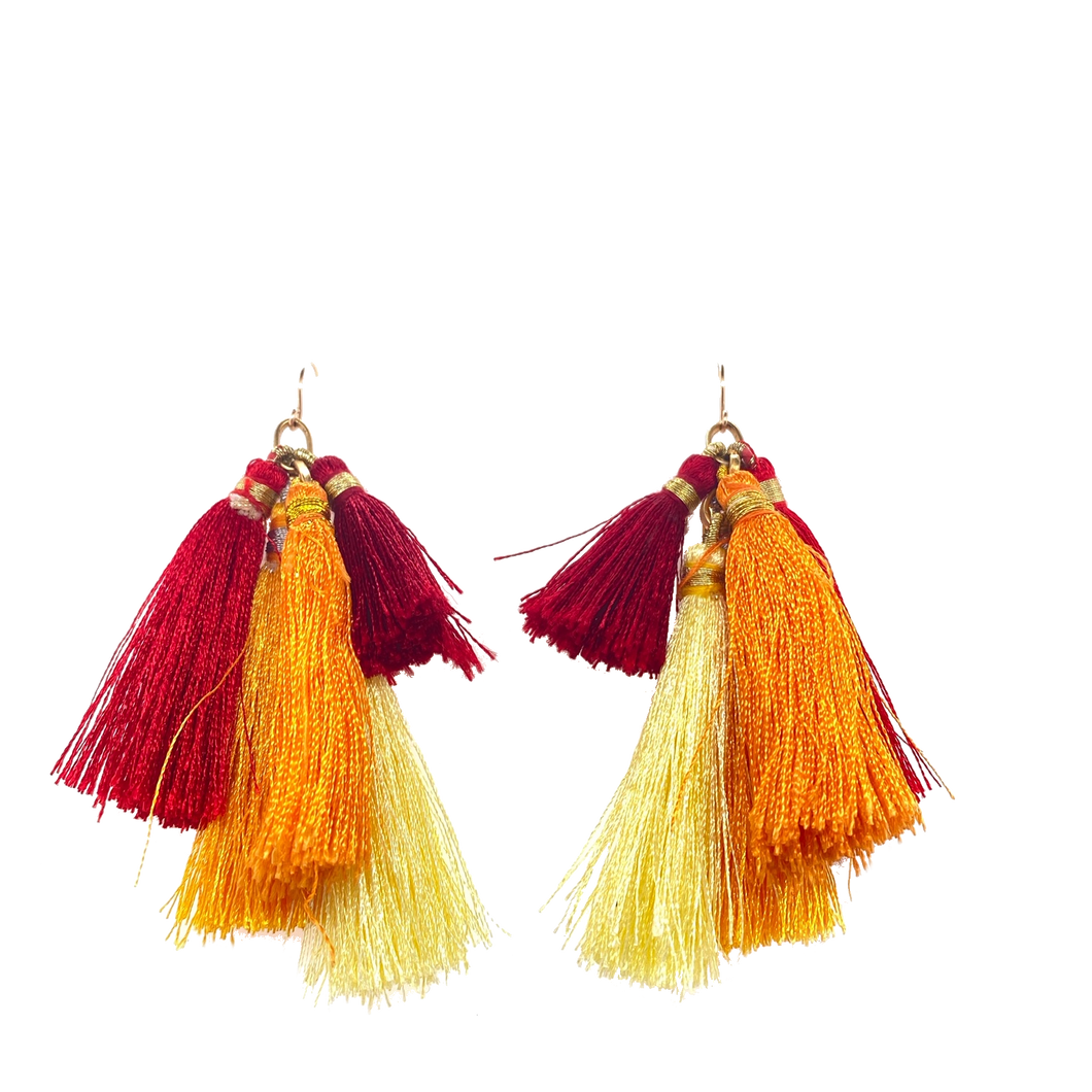 Flame Ombre Quint Tassel Cluster