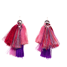 Load image into Gallery viewer, Fuchsia Flower Ombre Quint Tassel Cluster