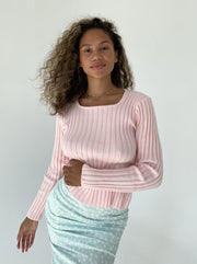 Go south knit - baby pink top May