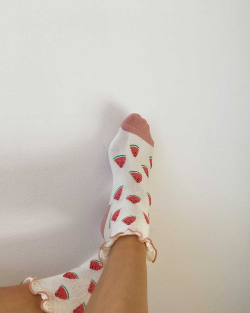 Juicy Avenue Sock - Strawberry pink accessories May