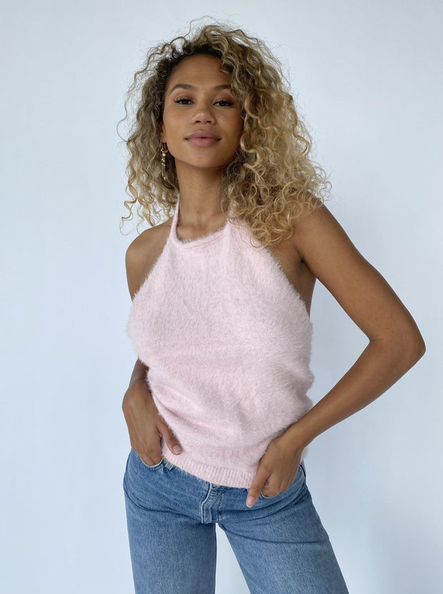 Sheila fluffy halterneck top May