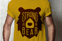 Load image into Gallery viewer, Strong as a Bear SVG - Bear Head SVG File