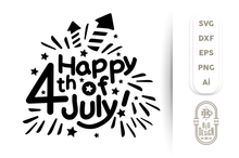 Load image into Gallery viewer, 4th of July SVG - Happy 4th of July SVG