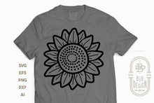 Load image into Gallery viewer, Sunflower SVG Files - Sunflower Illustration