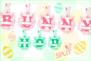 Bunny Hop - Cute Easter Alphabet with A-Z Letters