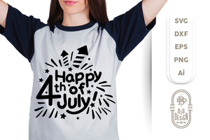 4th of July SVG - Happy 4th of July SVG