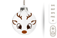 Load image into Gallery viewer, Christmas SVG - Cute Reindeer SVG , Boy Reindeer face SVG