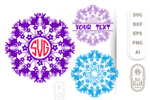 Load image into Gallery viewer, Mandala Pattern SVG File for Spring - no.15 - Bunny Mandala SVG