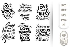 Love SVG Bundle - Sayings about Love SVG Files