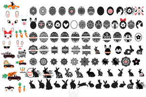 Easter SVG Bundle - 102 Designs for Easter