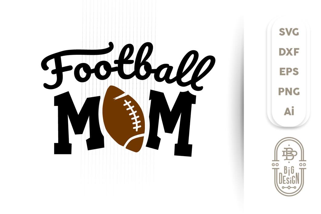 Football Mom SVG - Football SVG , Football SVG , Football fan svg , Football Silhouette Svg  , ball svg