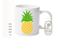Load image into Gallery viewer, Pineapple SVG + Pineapple with Sunglasses SVG , Pineapple Clipart