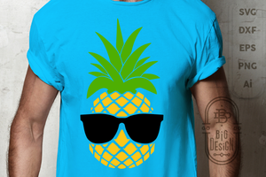 Pineapple SVG + Pineapple with Sunglasses SVG , Pineapple Clipart