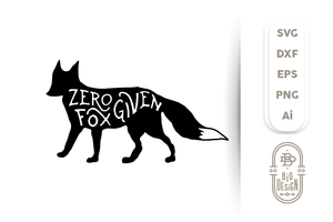 Zero Fox Given SVG - Fox SVG File