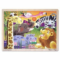 Melissa & Doug 24 Piece Wooden Puzzle  African Plains