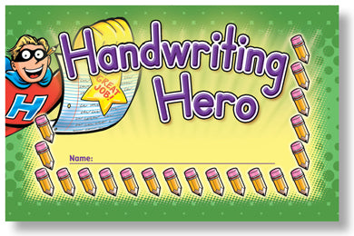 Incentive Punch Cards - Handwriting Heroes
