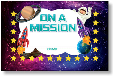 Incentive Punch Cards - On A Mission