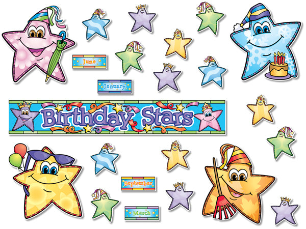Bulletin Board Set - Birthday Stars