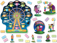 Bulletin Board Set - Amusement Park Ferris Wheel
