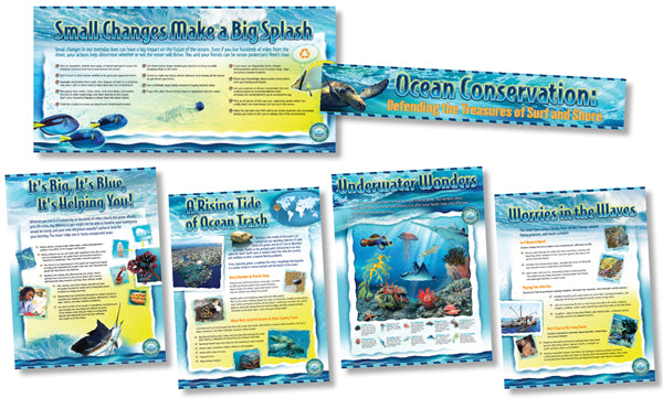 Bulletin Board Set - Ocean Conservation