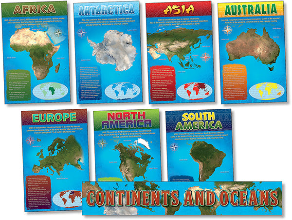 Bulletin Board Set - Continents And Oceans
