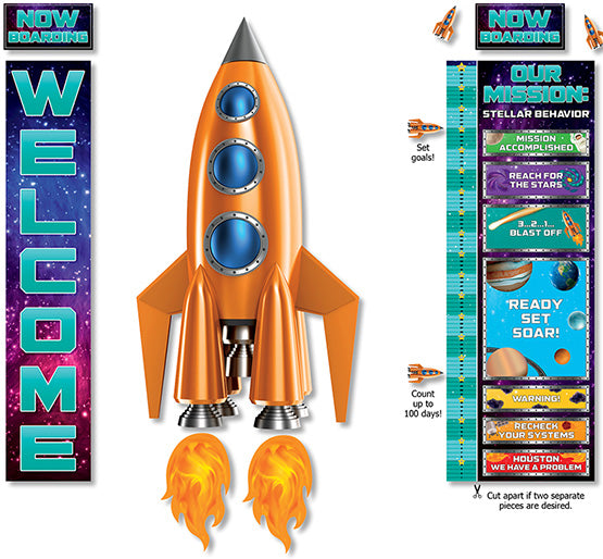 Spaceship Welcome Bulletin Board Set