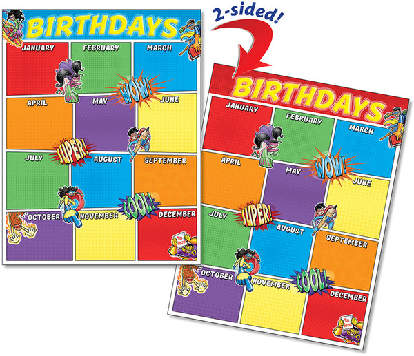 Quick Flip Poster - Birthday Superheroes
