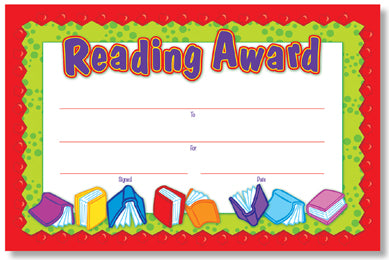Reading Award Recognition Award