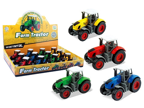 DIE CAST PULLBACK FARM TRACTOR - 7.8 CM