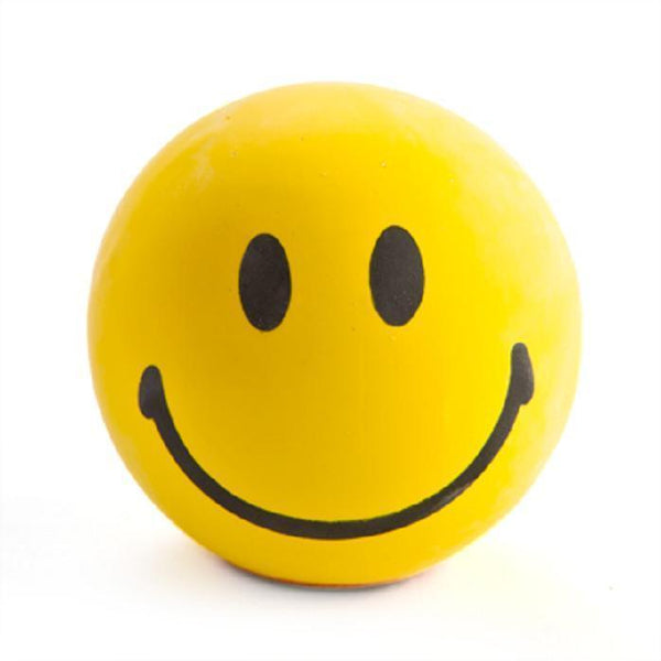 YELLOW  HAPPY FACE STRESS BALL
