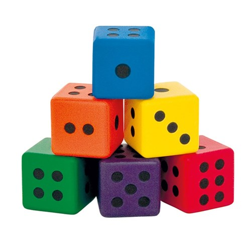 FOAM DICE SET OF 6