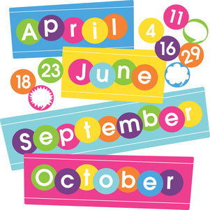 Happy Calendar Month & Number Set