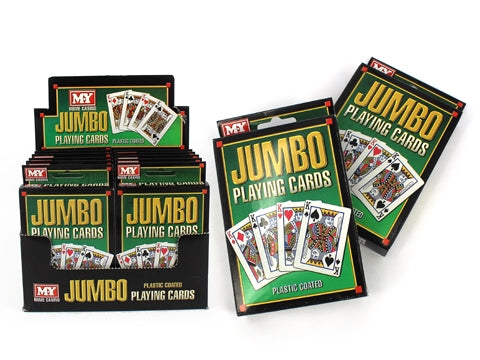 JUMBO SIZE PLAYING CARDS