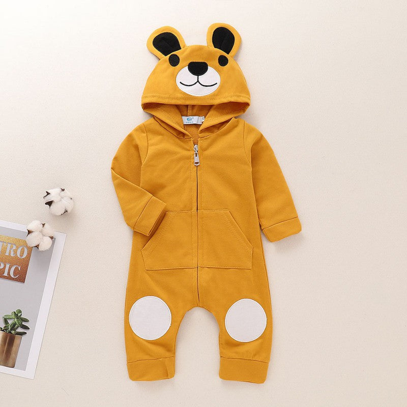 Spring Autumn Baby Rompers Cute Cartoon Bear Infant Girl Boy Jumpers Kids Baby Outfits Clothes Newborn Toddler Baby Clothing New