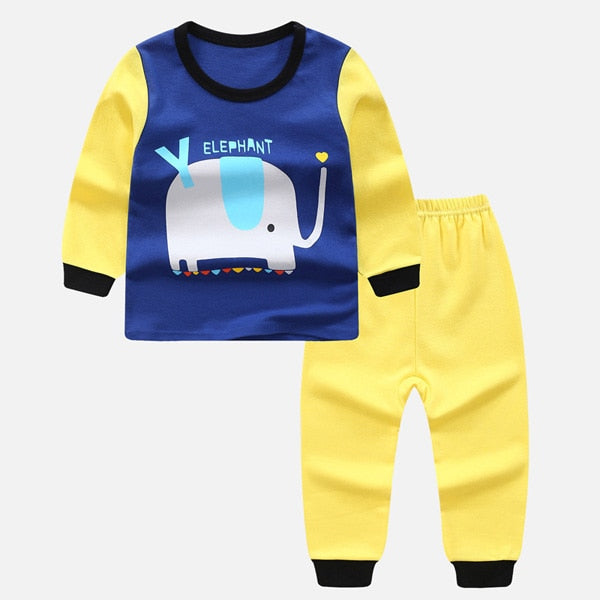 Boy Clothing Sets Girls Pajamas Cotton Suit Autumn Winter Shirt+Pant 2Pcs Boys Formal Clothing Sets Kids Sleepwear 2-8year