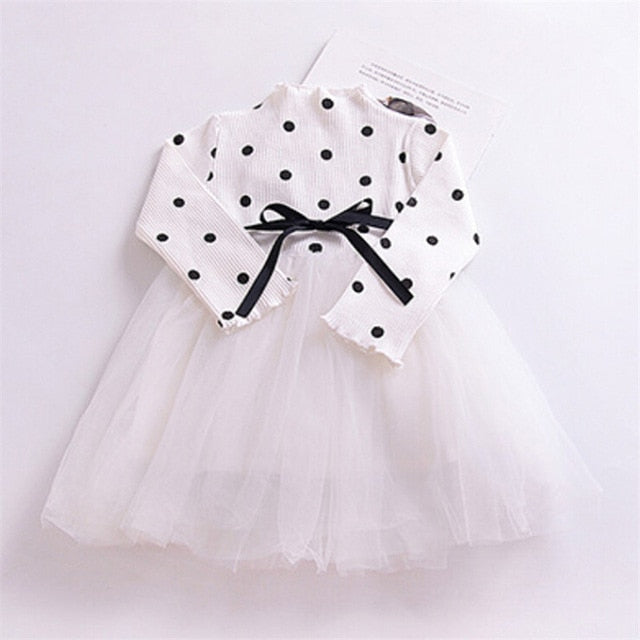 Flower Long Sleeve Smash Cake Baby Girl Clothes Newborn Girls Birthday Dress Christmas Party Dress for Girls Kids New Year Wear