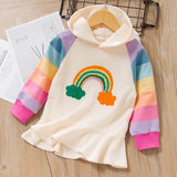 Spring Ruffles A-line Long Sleeve Kids Casual Dress for 3T-7T