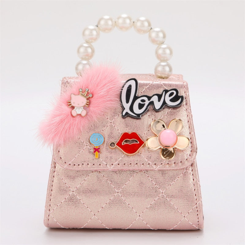 Emily Mini Kids Bag, Cute Rabbit Princess Bag, High-end, PU Mobile Phone Tote Bag for Party, Boy Wallet Bag for Party Night