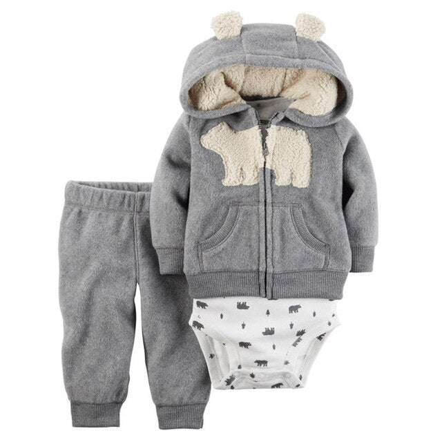 Flowers Baby Girls Clothes 3 Piece Of Sets Kids Clothing Sets Casual Winter Spring Infant Boys bodysuits Set New Toddler Costume