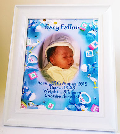 Personalised Baby Birth Details Framed